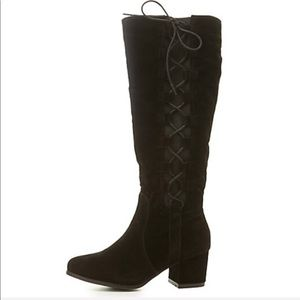 Wild Diva | Lace Up Tall Boots